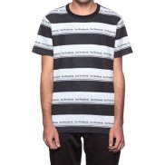 HUF T-Shirt Worldwide Stripe S/S Knit - black