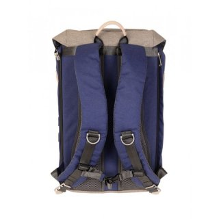 Doughnut Rucksack Colorado Small - navy x beige