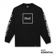 HUF Essentials Domestic Longsleeve black