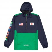 HUF Flags Anorak Jacke french navy