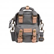 Doughnut Macaroon Tiny Reborn Series Backpack grey